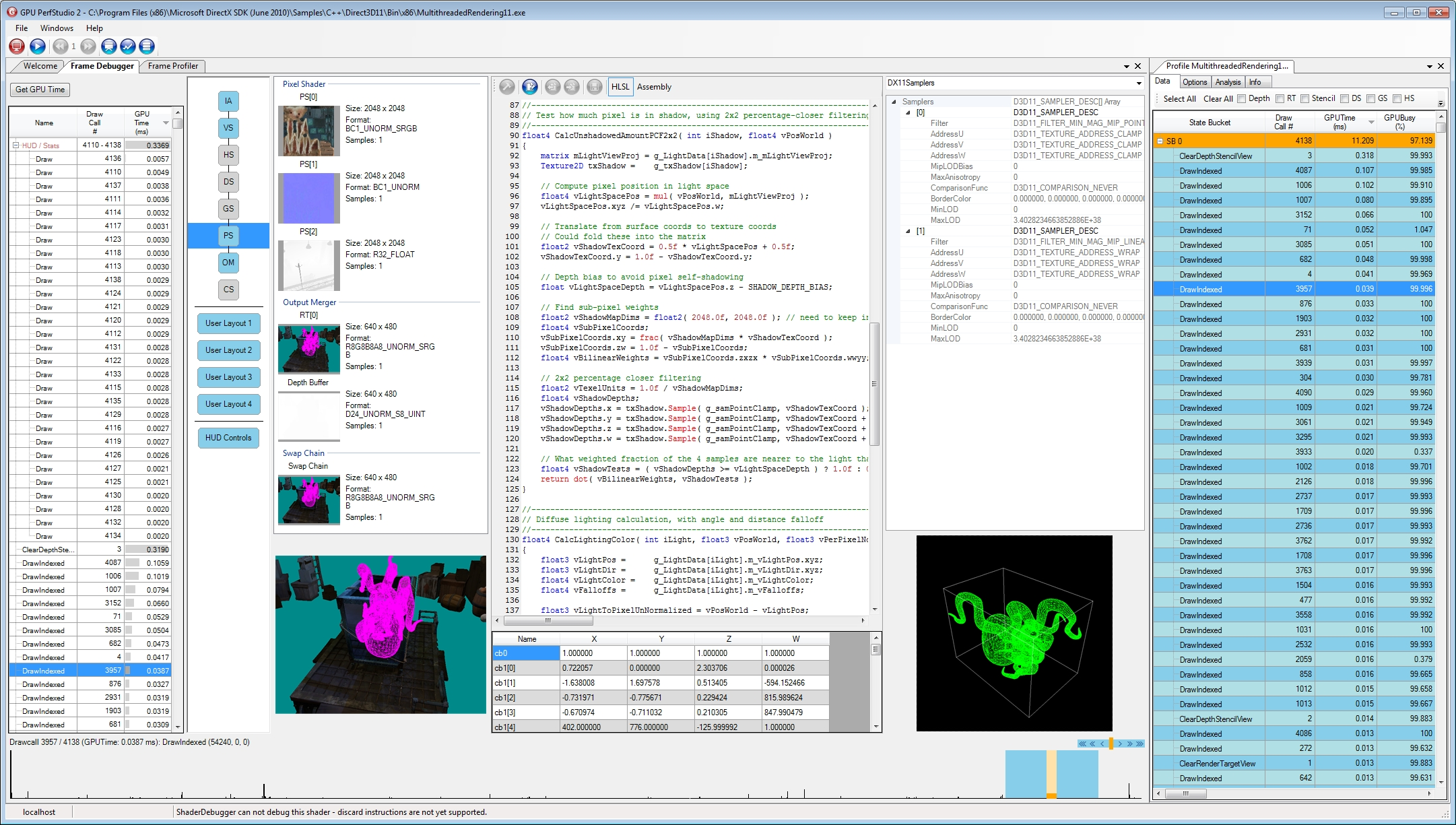 GPU PerfStudio integrates five tools that are key for the contemporary graphics developer.